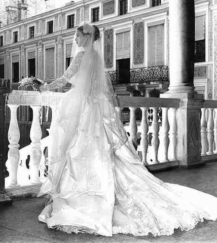 grace kelly wedding day. Grace Kelly on her wedding
